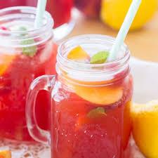 peach raspberry iced tea a latte food