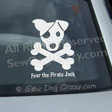Fear The Pirate Jack Decal Sew Dog Crazy