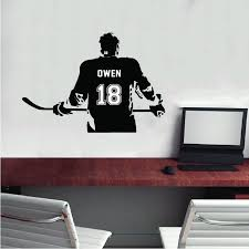 Hockey Player Decal With Customized Name Sportesi