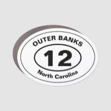 Outer Banks 12 Car Magnet Zazzle Com In 2020 Car Magnets Custom Holiday Card White Elephant Gifts Funny