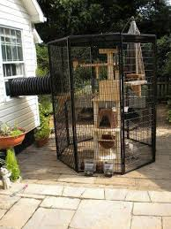 Pin By Sydney White On Kittens Cat Patio Outdoor Cat Enclosure Outdoor Cats