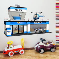 Kids Wall Sticker Police Station Muraldecal Com