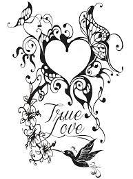 Anti Stress Kleurplaten Valentijnsdag Hart Tattoo 7