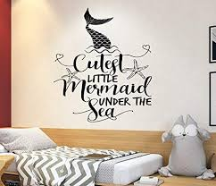 Amazon Com The Little Mermaid Wall Decal Ariel Decal Disney Quotes Boy And Girl Name Decal Trendy Sticker Baby Room Decal 4107 Handmade
