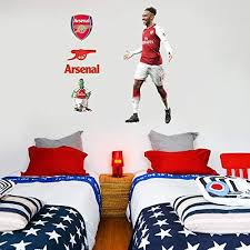 Amazon Com Official Arsenal Fc Pierre Emerick Aubameyang Player Decal Gunners Wall Sticker Set Decal Vinyl Poster Print Mural 187cm Height Baby