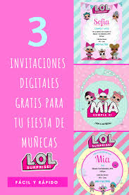 L O L Surprise Invitaciones Digitales Party Pop Invitaciones
