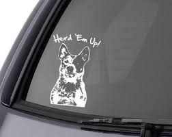 Red Heeler Decal Etsy