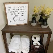 wood signs home decor diy bathroom decor