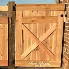 How To Build A Cedar Gate Acre Life Diy Project Building A Wooden Gate Cedar Gate Fence Gate Design