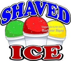 Choose Your Size Concession Food Truck Sign Sticker Shaved Ice Decal Business Industrial Restaurant Signs