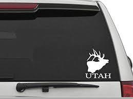 Amazon Com Decal Dan Utah Elk Car Truck Window Decal Sticker Laptop Automotive