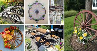 16 Magnificent Ways To Use Old Wagon Wheels In Your Garden The Art In Life