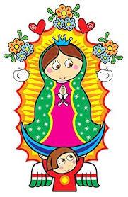 Amazon Com Virgen De Guadalupe Virgin Mary Sticker Decal Calcomania Cartoon 7 X4 4