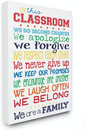 The Kids Room By Stupell In This Classroom Rules Typography Art Wall Plaque 11 X 0 5 X 15 Proudly Made In Usa