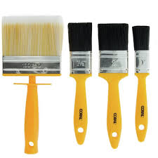 Buy Coral Essentials Paint Brushes With Block 4 Piece Set Paintbrushes And Rollers Argos