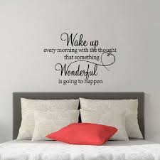 Wake Up Every Morning Wall Decal