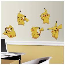 Pokemon Pikachu Peel Stick Wall Decals Kids Room Decor Pokeballs Stickers Walmart Com Walmart Com