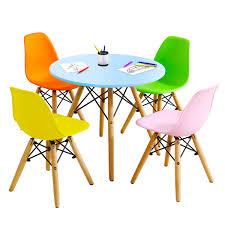 Gymax 5 Pc Kids Colorful Round Table Chair Set W 4 Armless Chairs Walmart Com Walmart Com