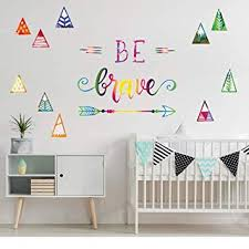 Amazon Com Colorful Be Brave Wall Decals For Boys Room Inspirational Wall Stickers For Playroom Bedroom Baby