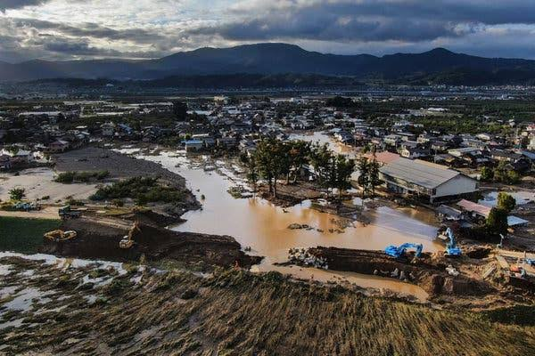 Image result for After a typhoon's record-breaking rains breached dozens of levees, the country is wondering whether even the costliest systems can be future-proofed for the age of climate change. 70 deaths, 55 levee breaches and 10 000 homes submerged.