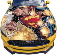 Vinyl Car Hood Wrap Full Color Graphics Decal Superman Flight Etsy