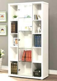 bookshelf with glass doors modern