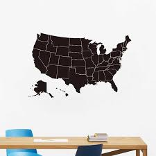 United States Of America Map Wall Art Decal Chalkboard Usa Map Vinyl Sticker Office Studying Room Wall Art Mural Decal Decor Wall Stickers Aliexpress