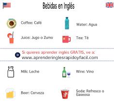 bebidas en inglés y español con