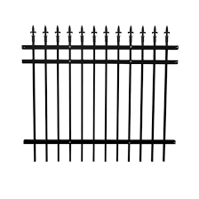 China Garden Corten Powder Coated Galvanized Tube Steel Fence Panels And Posts For Sale China Pool Fencing Cast Iron Fence