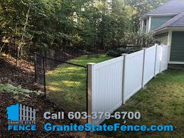 Chain Link Fencing And Vinyl Fence Installation In Londonderry Nh Granite State Fence