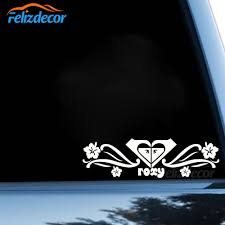Roxy Flowers With Heart Love Car Stickers For Body Window Door Decal Funny Top Quality Rainproof Zp194 Car Stickers Aliexpress