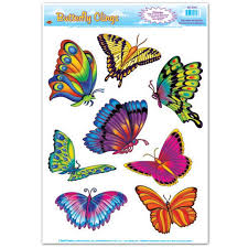 Butterfly Window Clings Party At Lewis Elegant Party Supplies Plastic Dinnerware Paper Plates And Napkins