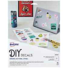 Avery Diy Decals With Surface Safe Adhesive 8 1 2 X 11 Water Tear Resistant 3 Labels 61512 Avery Com
