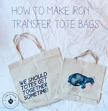 Diy Iron Transfer Canvas Tote Bags Life Is Made