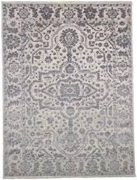 blue rectangle 9x12 ft wool carpet
