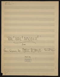 Hail! Hail! Ameica! song | Library of Congress