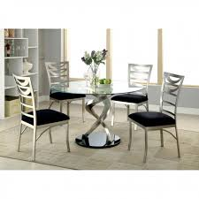 tempered glass top dining table set