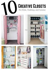 Ten Creative Closets For Kids Crafting And Linens 11 Magnolia Lane