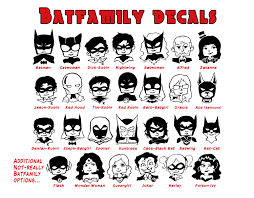 Batman Stickman Family Decal Batfamily Dc Comics Superhero Etsy