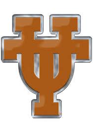 Sports Licensing Solutions Texas Longhorns Aluminum Car Emblem Burnt Orange 1380441