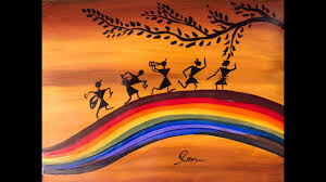 warli acrylic painting step by step