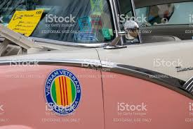 Magnetic Decal From Vietnam Veterans Of America Displayed On The Side Of A Classic Car At A Car Show Stock Photo Download Image Now Istock