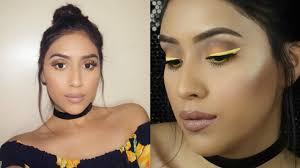 yellow eyeliner spring makeup