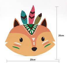 Amazon Com Vorcool Wooden Fox Animal Head Wall Sculpture For Kids Boys Girls Room Decor Furniture Decor