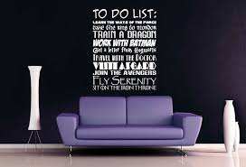 Fandom To Do List Wall Decal Wall Decals To Do List Lettering