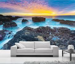 3d خلفيات الجداريات الصورة المخصصة الذهبي الشمس المشرقة كاليفورنيا