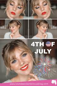 fourth of july makeup tutorial blonde
