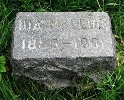 Ida Taylor McLeod (1859-1901) - Find A Grave Memorial