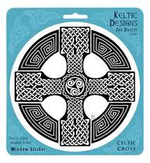 Celtic Cross Window Decal By Welsh Artist Jen Delyth Celtic Art Studio