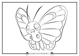 Butterfree Kleurplaten Gratis Printen Kleurplaat Pokemon